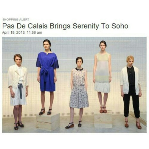 "Via @styledotcom ""@pas_de_calais Brings Serenity to Soho!"""