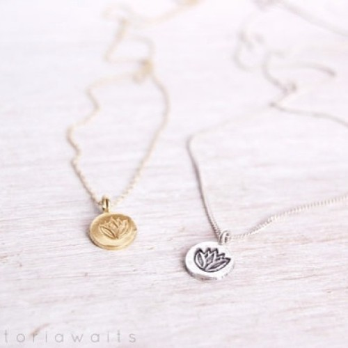 New enlighten lotus necklaces in sterling silver and gold vermeil £30 🌼 #lotus #yoga #yogajewelry #lotusnecklace #silverlotus #goldlotus #meditation #health #fitness #victoriawaits