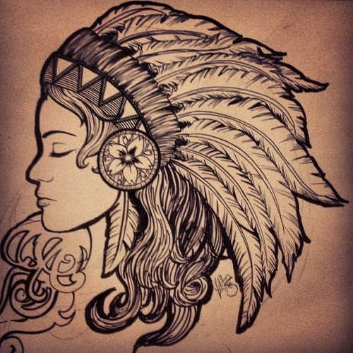 Found this and finally finished it dang.✌ #momma #love #art #indian #tattooart
