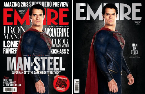 LINK INK: Movies: Henry Cavill is standing tall in his Man of Steel suit on the latest cover(s) of Empire magazine. [Empire]