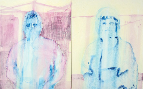 Amalgam2013oil on canvas diptych20 x 32 inches total