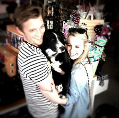 Jake + his dog + his fiancée = adorable
