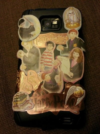 leeshleesh23:  my phone case, after i crammed as many Harry Potter stickers as I could on there.