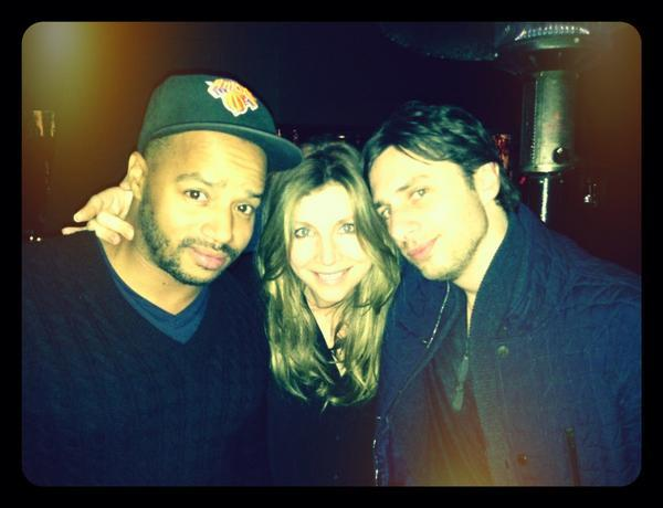 Sarah Chalke - Steak night with @donald_faison and @sarahchalke