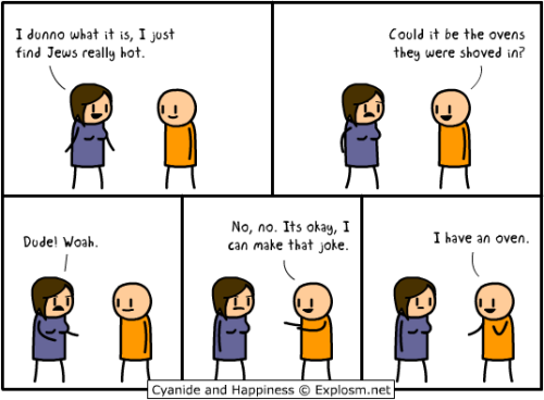 "herpriorities:  Cyanide and Happiness shows us what you sound like when you use ""no, no, it's alright, I have a Black friend"" as an excuse for racist shit.  THERE IS NO EXCUSE FOR RACISM. Just saying."