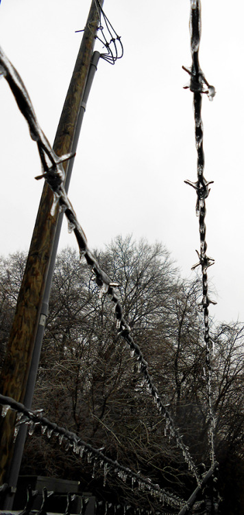 Barbed wire and Icicles