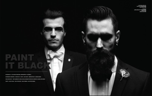 thebeardfellowship:  Ricki Hall and Jack Gallowtree for Tirade magazine.