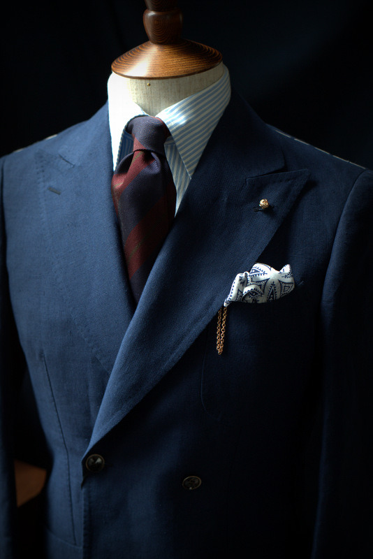 Details - Gold Lapel Pin by the ArmouryDrake's Striped Tie