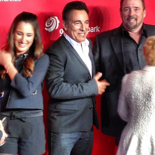 The Boss Bruce Springsteen being honored last night at MusiCares Person  Of The Year