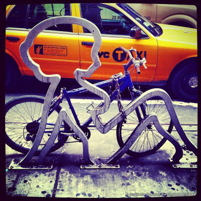 Daily What?!: Betty Boop Bike Rack in Midtown http://bit.ly/12VrBSY