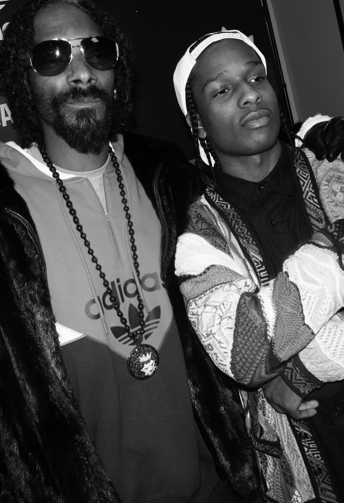 hiphoplaboratory:  Rocky & Snoop Photo by Snoop Lion