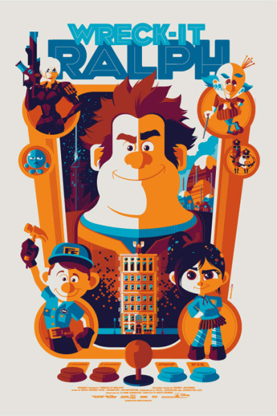 visualgraphic:  Wreck It Ralph by Tom Whalen
