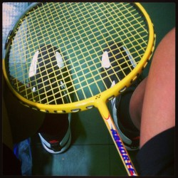 Hmmm something isn't right about this….#badminton? #whatamidoing? #yonex #Adidas