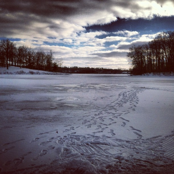 Spent some time on the ice this morning. Fishing wasn't all that good, but it doesn't have to be. Just being out there is enough.  #ice fishing #ice #fishing #hard water #winter #Michigan #cold #freezing