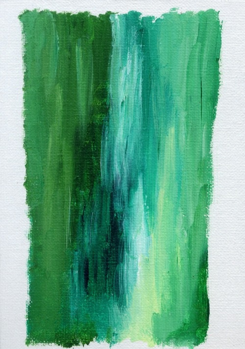 "Emerald Isle #7 - acrylic on canvas panel, 5"" by 7"""