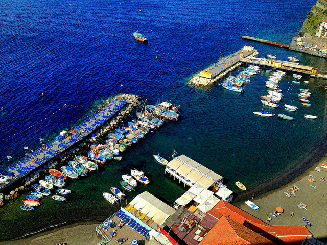 | ♕ |  Azure marina - Sorrento, Italy  | by © Ron Gunzburger