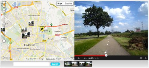 smartercities:  Video Maps Of The World's Bike Lanes Let You Preview Your Ride | FastCo.Exist Another cycling innovation is making its way from the Netherlands to this side of the Atlantic. Cyclodeo is a bike-focused mapping website that pairs videos of bike lanes with Google maps. above: Eindhoven in southern Netherlands.