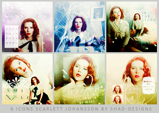 shad-designs:  Set 6 icons Scarlett Johansson Design by shad designs