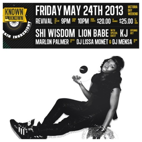 @Djlissamonet will be spinning LIVE at the @ShiWisdom x @LionBabex Show on Friday, May 24th || Revival || 783 College St. || $20 Limited advance tickets online & at Play De Record, Livestock & Soundscapes! Hosted by: @ThatDudeMcFly || Don't sleep!!!! This is HUGE!!!! #concerts (at Revival Nightclub) #toronto #music #theknownunknown #knownunknown #concert #indie #rnb #singer #singers #performances #shiwisdom #lionbabe #performance (at Revival Nightclub