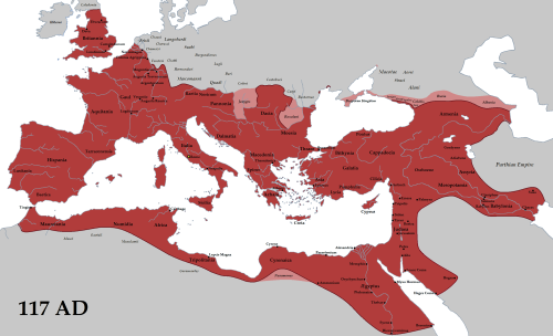 mapsontheweb:  The Roman Empire at it's height, under Emperor Trajan