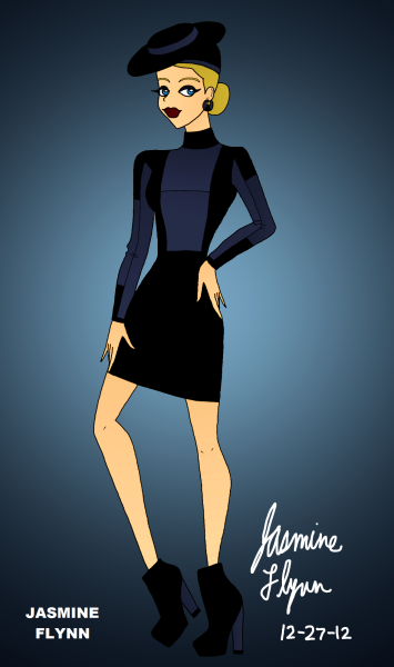 Black and Navy. a digital drawing by me, Jasmine Flynn :)