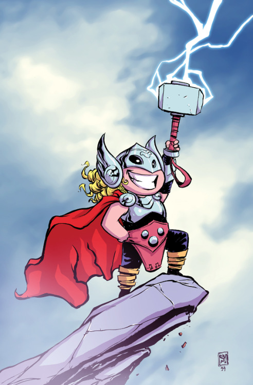 skottieyoung:  Thor God of Thunder #1 variant