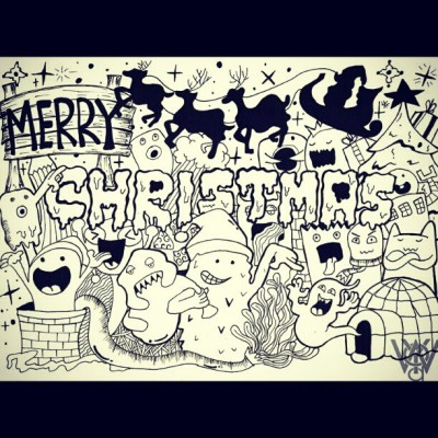 Merry Christmas Doodle :)) #doodle #DoodleArt #drawing #draw #sketch #sketching #xmas #christmas #pen #illustration