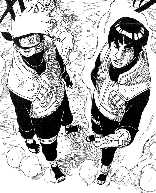 bikori:  Kakashi & Guy. Badass friends.