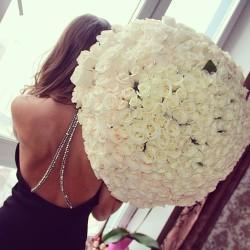 hair girl fashion dress glamour luxury elegance white flowers rosy