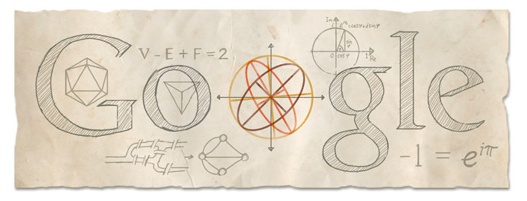 Today Google is honoring the life of Leonhard Euler, a renowned Swiss mathematician who is credited with founding the concepts of most modern math including the notion of a mathematical function. Today on April 15, 1707 – 306 years ago today, Leonhard Euler was born in Basel, Switzerland. 76 years later, he died on September 18, 1783 in Saint Petersburg Russia. Google and math go well together, don't you think?