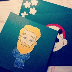 Who's the lucky recipient of the bearded holiday card? Hmmm…