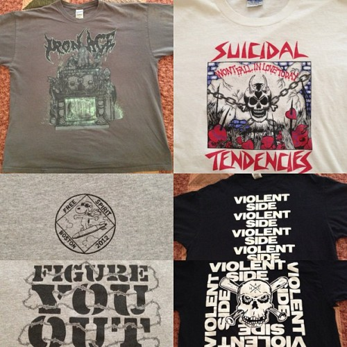 coreshirts4sale:  1.) Iron Age shirt. Size XL. 2.) Suicidal Tendencies shirt. Size XL. 3.) Free Spirit shirt. Size XL. 4.) Violent Side shirt. Size XL. SELLER - Email-stresscheckxxx@gmail.com.#ironage #suicidaltendencies #freespirit #violentside #coreshirts4sale