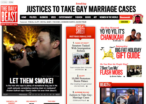 Gay marriage, marijuana, and Les Miz flash mobs, oh my!