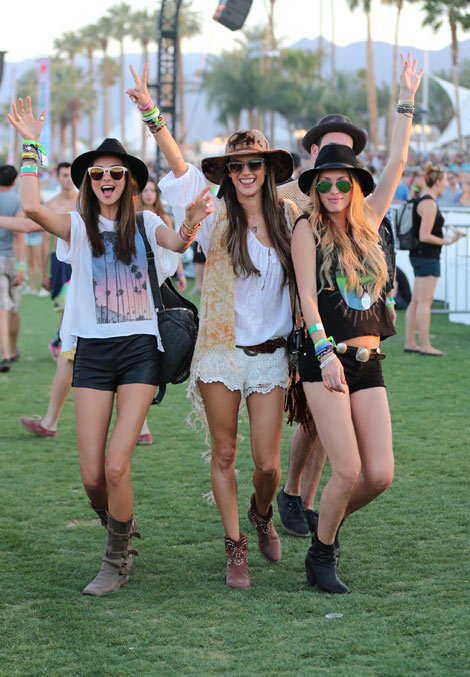Miranda Kerr, Alessandra Ambrosio and Candice Swanepoel at Coachella 2013