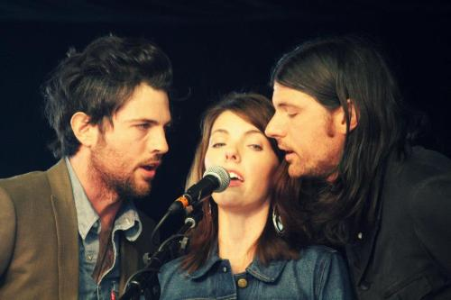 oksoiwaswrongabout:  Scott Avett, Bonnie, and Seth Avett during Avett Family Gospel Hour at MerleFest.