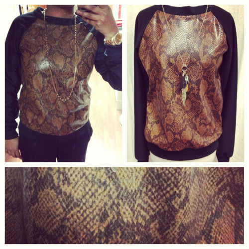 Our new custom made snakeskin shirt available in men & women