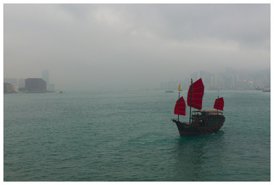 Photo of the Day: Red Sails on Aqua Waters in Hong Kong A boat glides through the rippling waves in Hong Kong on May 12, 2013. (iandolphin24/Flickr) Want to see your images in our 'Photo of the Day' posts? Find out how.