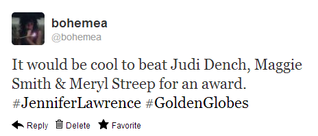 Join me on the Twitter for Golden Globe reflections/reactions!