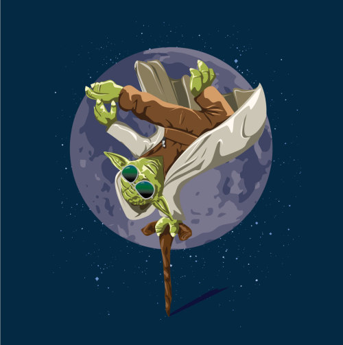 eatsleepdraw:  Yoda Force Break Dance Tee Got served you did. http://www.wearviral.com/product/yoda-force-break-dance
