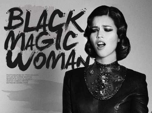 Black Magic Woman, a new fashion editorial by Fred Goudon. See more at http://www.bloginity.com/?p=124350 Photographed by Fred GoudonStyled by Karine MartinsMakeup Artist: Aziza El BadaouiHair Stylist Yumiko HikageEdited by Daniel Haim