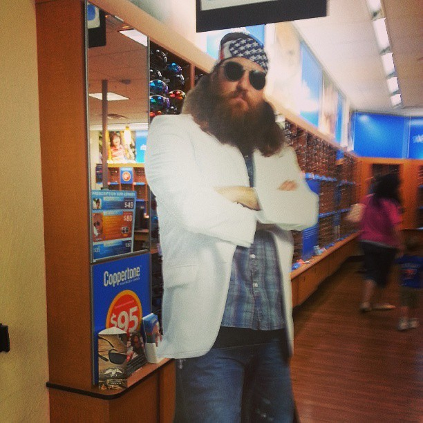 Jesus (?) cardboard cut out. #thingsfoundatwalmart #jesusjousting