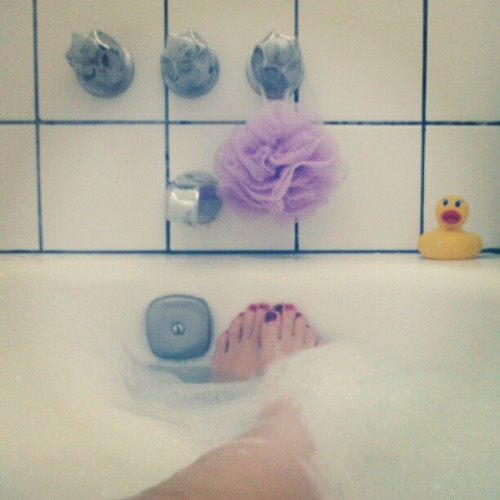 Aside from diamonds, bubble baths are a girl's bestfriend.
