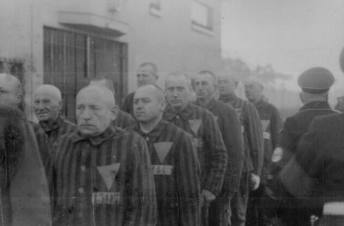 Prisoners of Sachsenhausen, December 1938.
