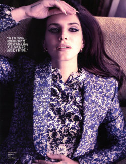 "collections-from-vogue:  Lana Del Rey in ""Say Goodbye to the Wonderland"" Photographed By Wee Kim & Styled By Grace Lam For Vogue China, January 2013"