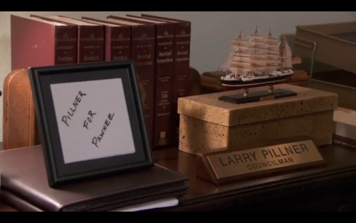 untrustme-:  the greatest west wing joke in parks and rec when bradley whitford guest starred as larry pillner.