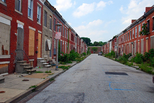 Abandoned row houses. Baltimore, Maryland.By sann235