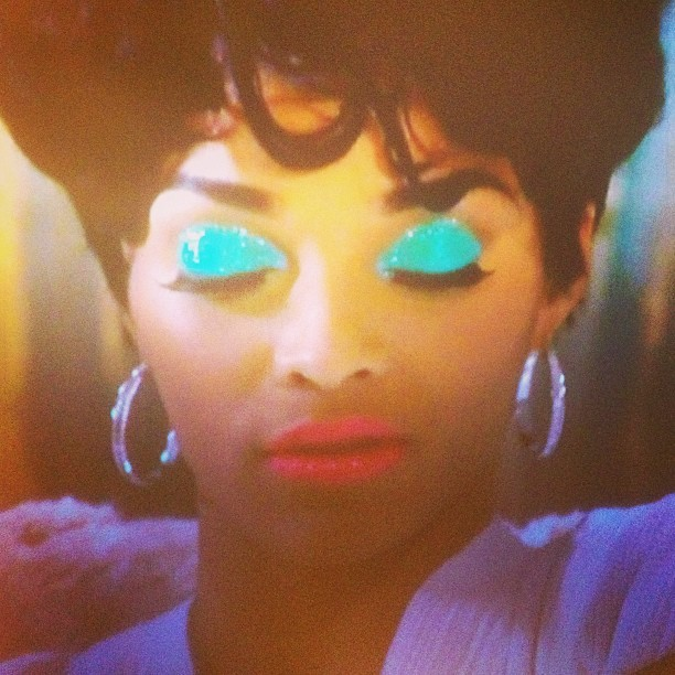Omg my baby! Joseline please take that sh*t off your face! 😩😫😂😭 had to take a picture. @_kris_kay @loosh813 @Triceyg88 #dead #LHHATL