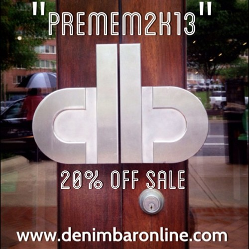 "Pre-Memorial Day Sale | Receive 20% off your online purchases over $100 using promo code ""PreMem2k13"". This promotion excludes A.P.C. and sale items. (at www.denimbaronline.com)"