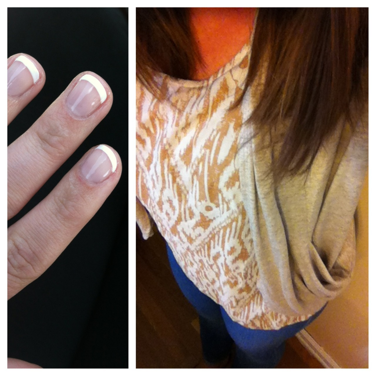 sometimes I get my nails done & buy new shirts and cardigans — celebrating last day of classes!