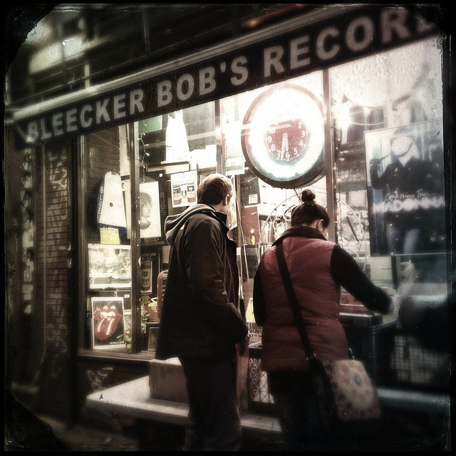 bleecker bob's on Flickr.A couple of weekends ago, my boyfriend and I went to Bleecker Bob's in the Village for what could have been the last time we set foot in the mecca of record stores. The legendary record store is set to close early this year.
